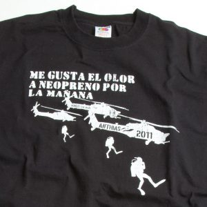 Camiseta para buceadores Kilgore Diver. Negra