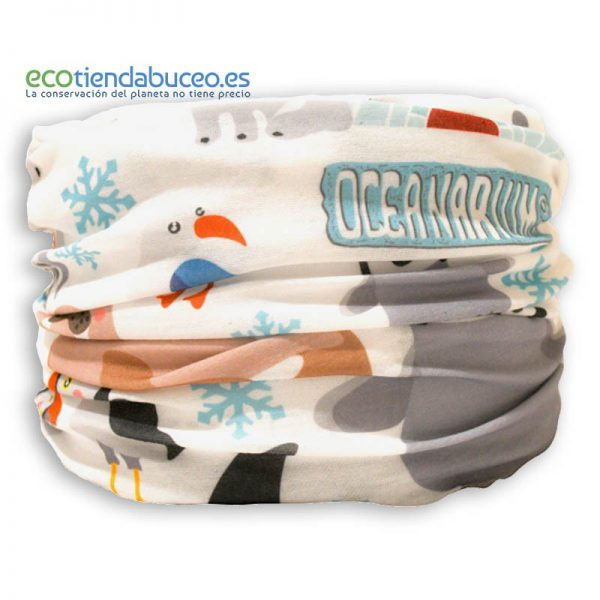 Bandana Artic Pingüino y Orca - ecotiendabuceo Oceanarium